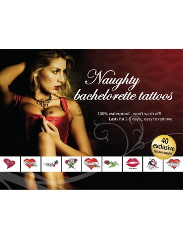Tatuaggi temporanei Tattoo Set - Naughty Bachelorette