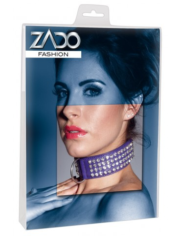 Collare viola decorato con strass - Zado