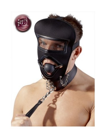 Maschera sadomaso con collare - Fetish Collection
