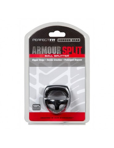 Anello fallico Armour Split - Black