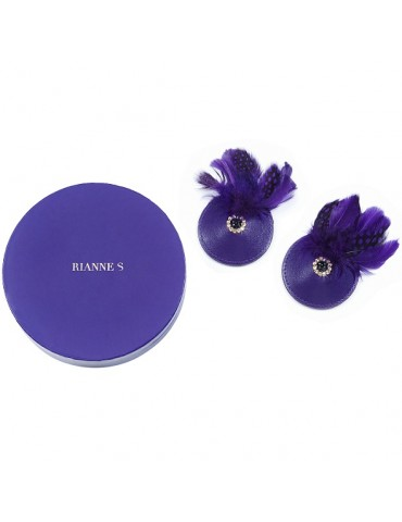 Copricapezzoli Rianne S - Pasties Birds Purple