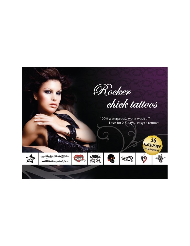 Tatuaggi temporanei Tattoo Set - Rocker Chick