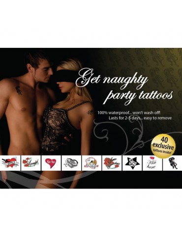 Tatuaggi temporanei Tattoo Set - Get Naughty Party