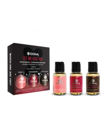 Olii da massaggio Dona - Flavored Massage Gift Set (3 x 30 ml)