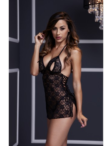 Intimo lingerie Babydoll in pizzo floreale - Baci