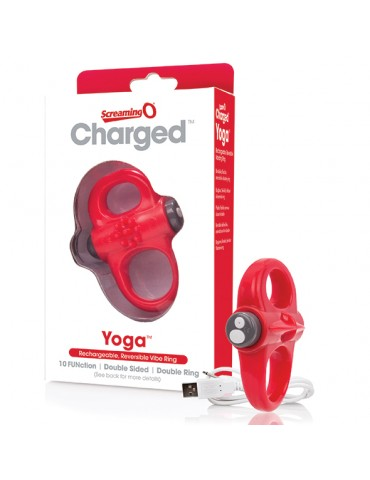 Anello stimolante ricaricabile The Screaming O - Rosso - Charged Yoga