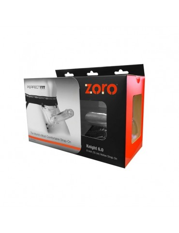 Imbracatura Strap-On - Trasparente - Perfect Fit - Zoro 15 cm