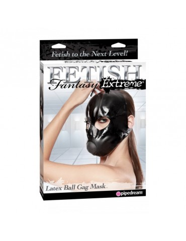 Maschera con morso - Latex Ball Gag - Pipedream