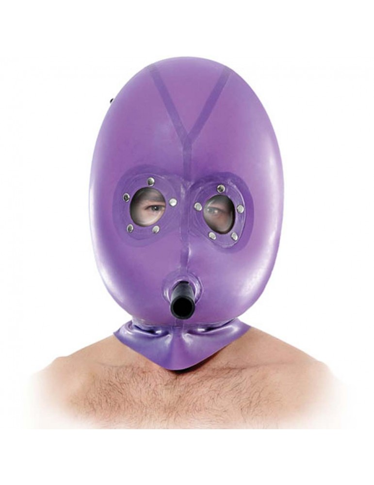 Maschera gonfiabile in latex viola - Pipedream