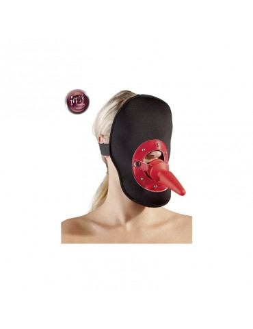 Maschera sadomaso con plug anale - Fetish Collection