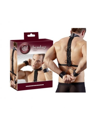 Set costrittivo con collare e manette Bondage - Fetish Collection