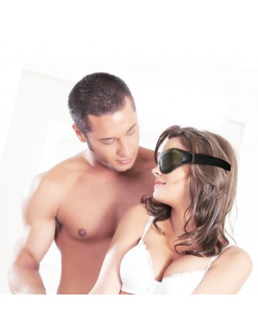 Mascherina copri occhi - Leather Blindfold - Sportsheets