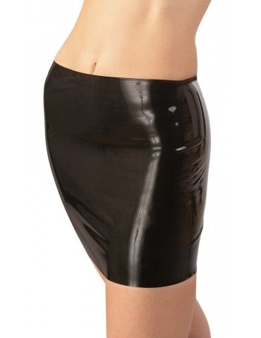 Mini gonna in latex nero Minirock - Late X