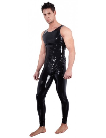 Tuta da uomo Overall in latex nero - Late X