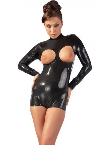 Body in latex nero con apertura seni - Late X