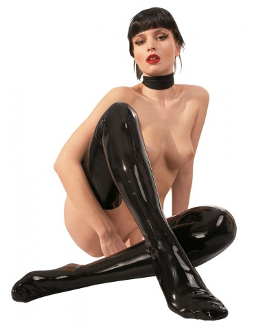 Autoreggenti in latex nero - Late X
