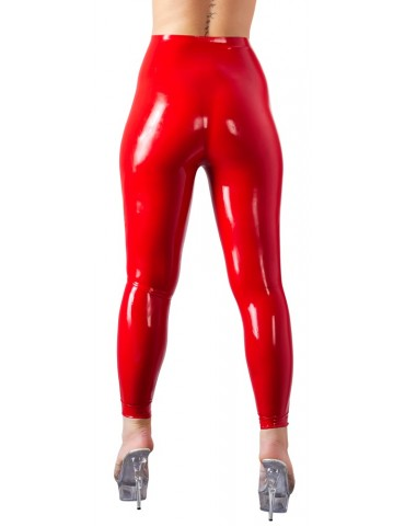 Leggings Donna in latex rosso - Late X