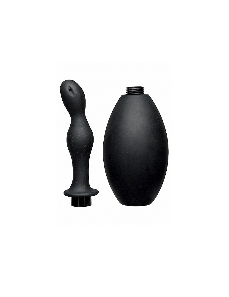 Cannula anale in silicone nero - Flow Flush - Kink