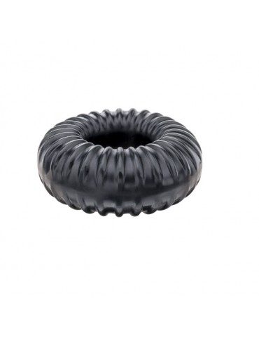 Anello Ribbed Ring Black - Perfect Fit