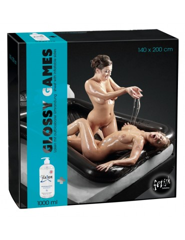 Lenzuolo + Lube - Lack-Laken Glossy Games - Fetish Collection