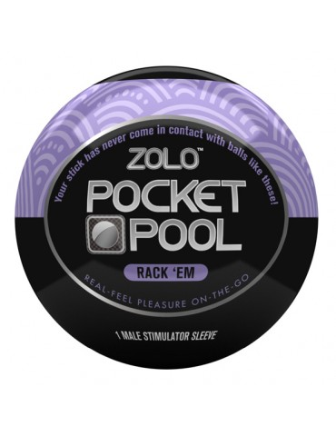 Mini masturbatore Zolo - Pocket Pool Rack Em